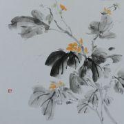 Lau_Nailing_Liu_Nailing_peinture_chinoise_fleur_de_concombre