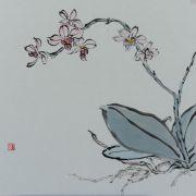 Lau_Nailing_Liu_Nailing_peinture_chinoise_orchidée_1