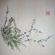Lau_Nailing_cours-peinture_chinoise_bambous_et_prunier_2_travaux_élèves